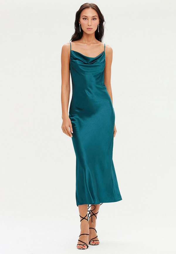 женское платье-комбинация love republic, зеленое