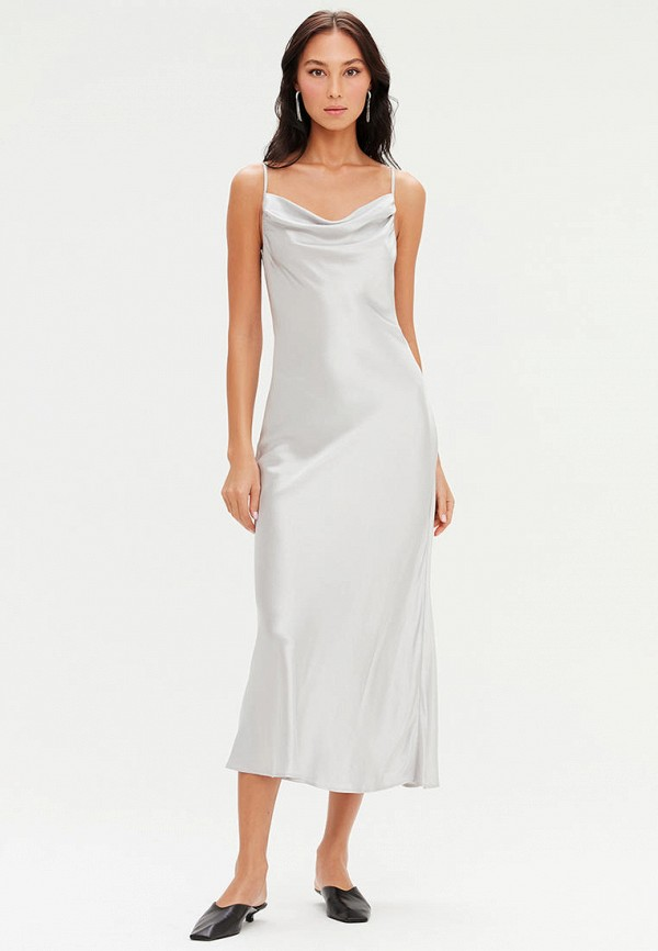 женское платье-комбинация love republic, серебряное