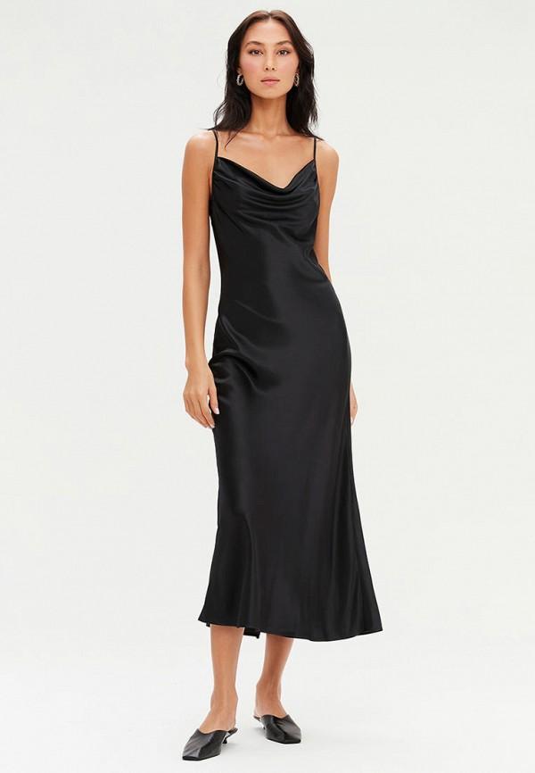 женское платье-комбинация love republic, черное