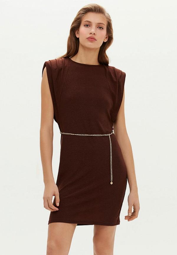 женское вечерние платье love republic, коричневое