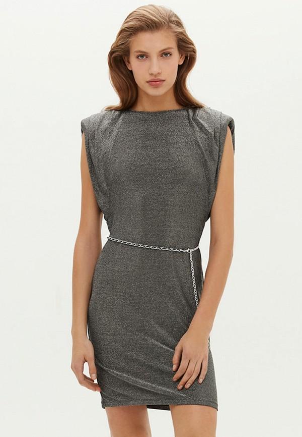 женское вечерние платье love republic, серебряное