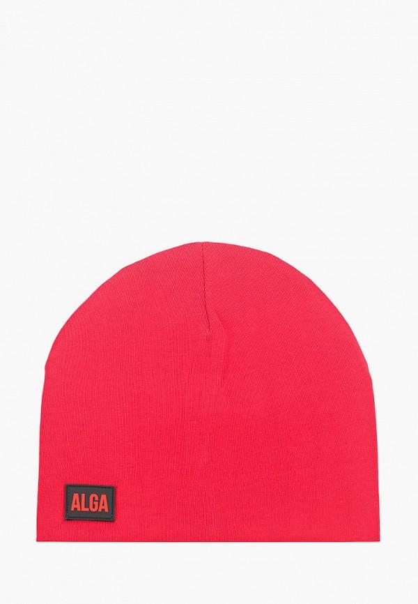 женская шапка alga, красная