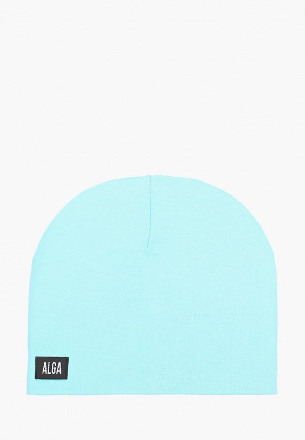 женская шапка alga, голубая