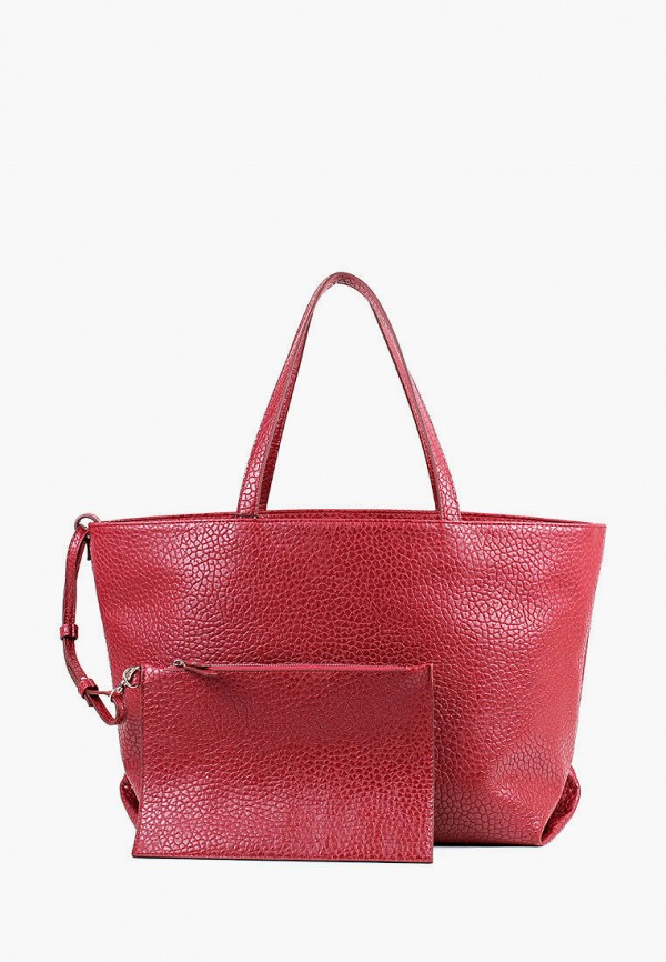 женская сумка-шоперы медведково, бордовая