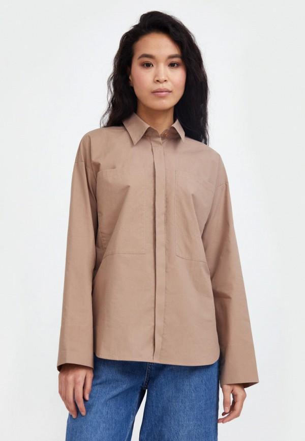 Рубашка Finn Flare коричневого цвета