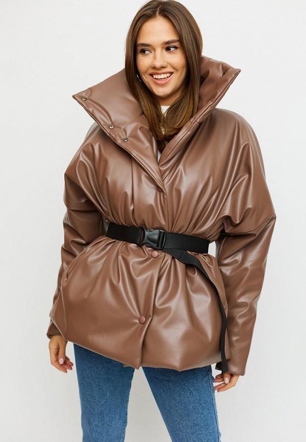 женская куртка karree, коричневая