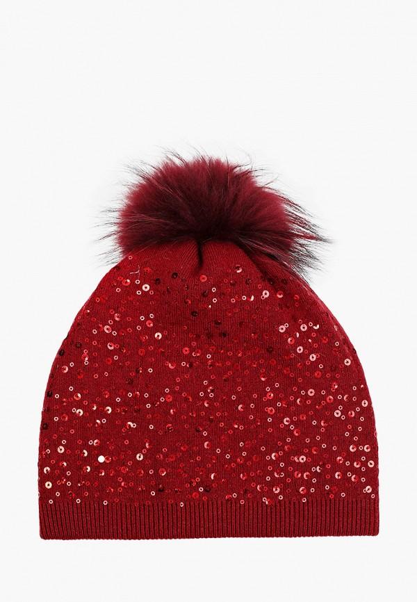 женская шапка модные истории, бордовая
