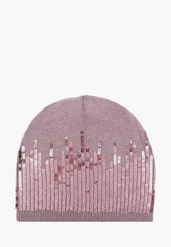 женская шапка модные истории, фиолетовая