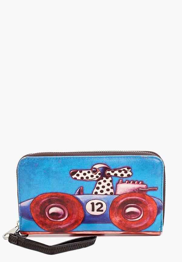 женский кошелёк модные истории, синий