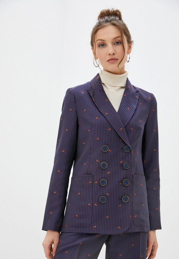женский пиджак akhmadullina dreams, синий