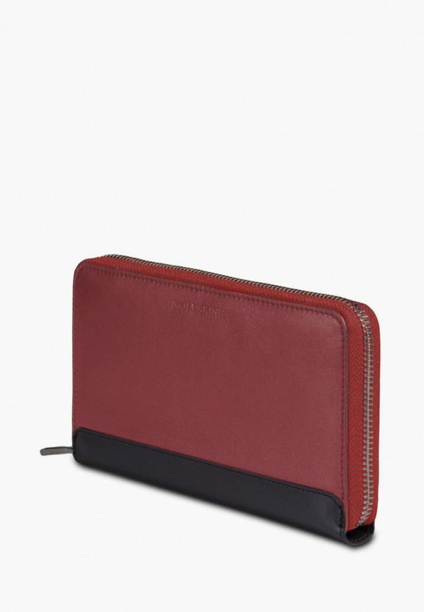 женский кошелёк moleskine, бордовый