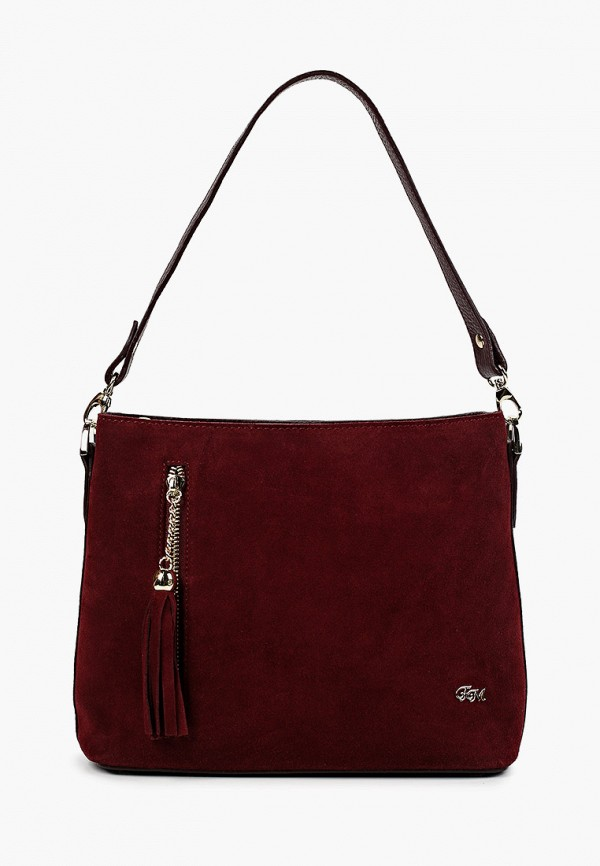 женская сумка с ручками franchesco mariscotti, бордовая