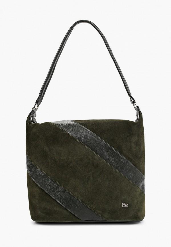 женская сумка с ручками franchesco mariscotti, хаки