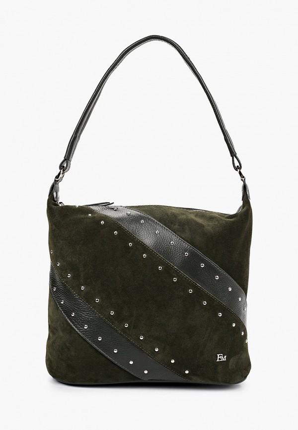 женская сумка с ручками franchesco mariscotti, зеленая