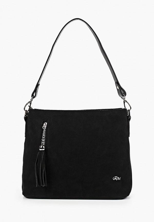 женская сумка с ручками franchesco mariscotti, черная