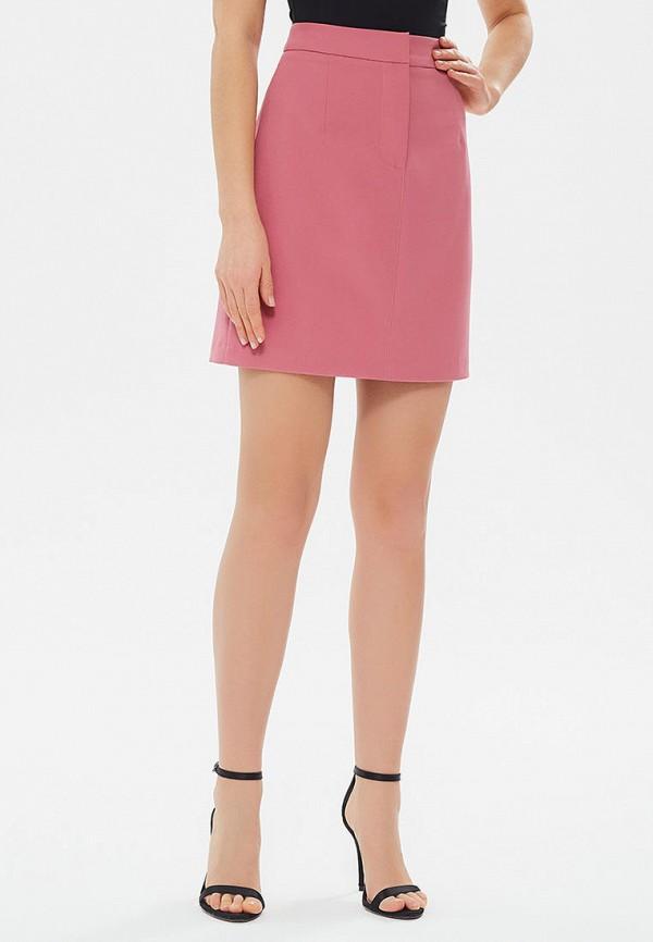 женская прямые юбка moru, розовая