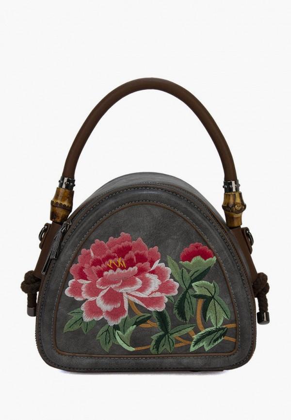 женская сумка с ручками laccoma, серая