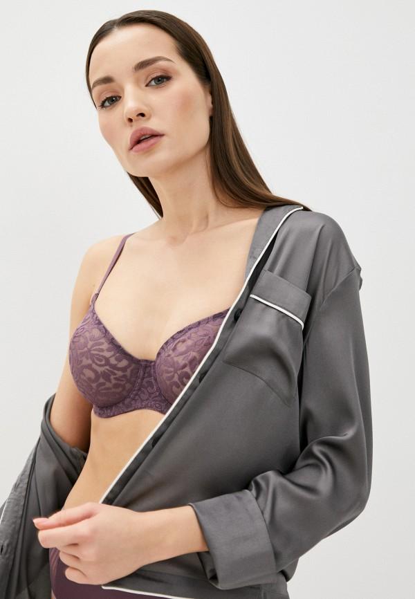 женский бюстгальтер на косточках mark formelle, фиолетовый
