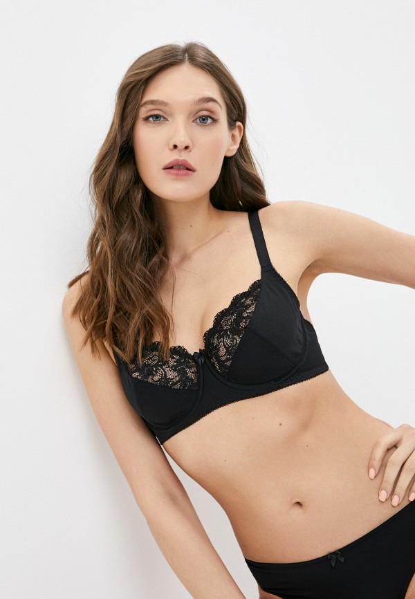 женский бюстгальтер на косточках milabel lingerie, черный