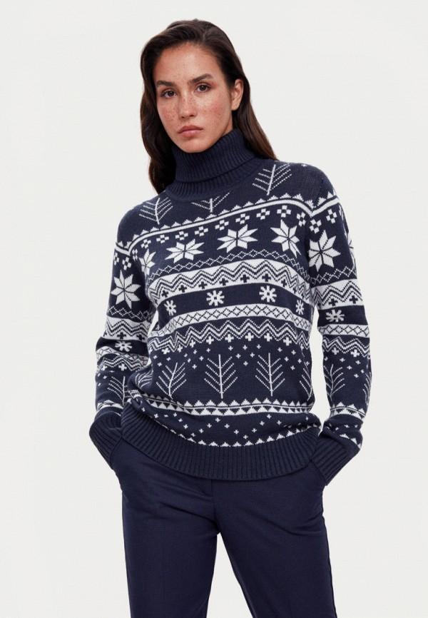 женский свитер finn flare, синий