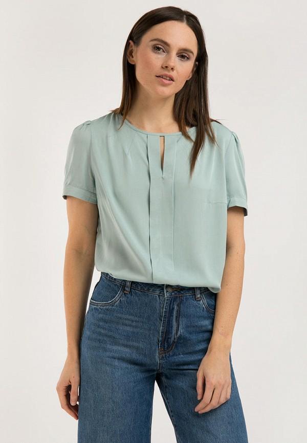 женская блузка finn flare, бирюзовая