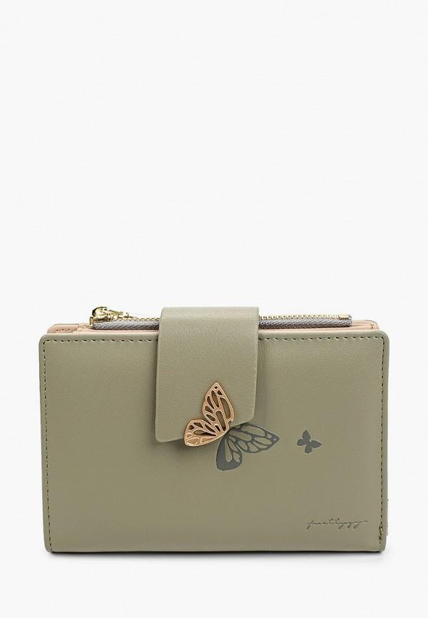 женский кошелёк mon mua, зеленый