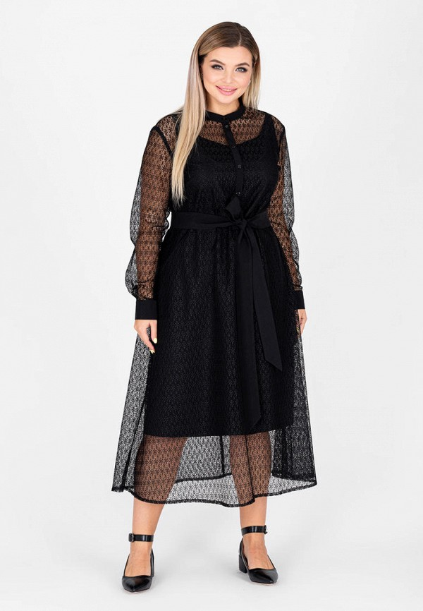 женское повседневные платье eliseeva olesya, черное
