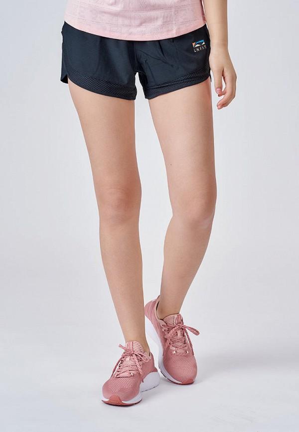 женские спортивные шорты li-ning, черные