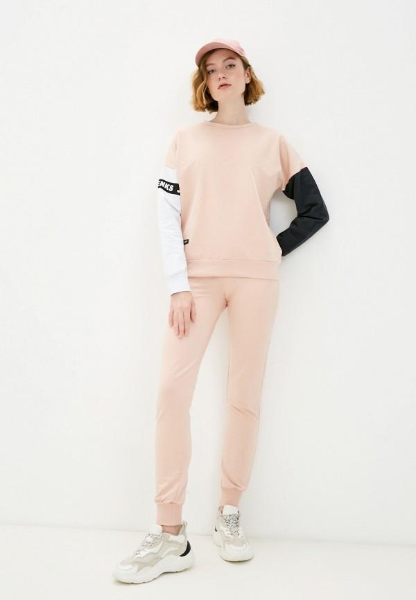 женский спортивный костюм jenks, розовый