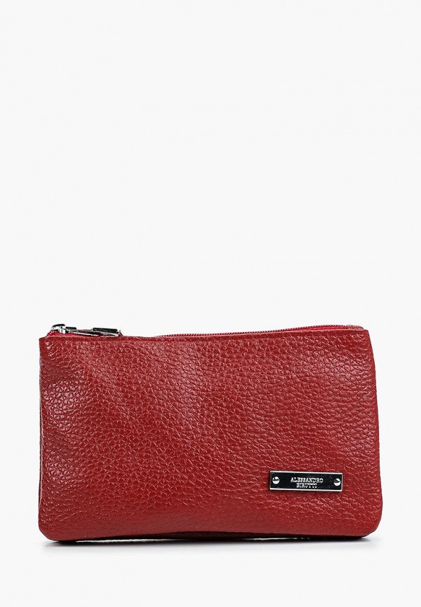 женский кошелёк alessandro birutti, бордовый