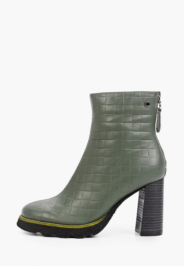 женские высокие ботильоны tuffoni, зеленые