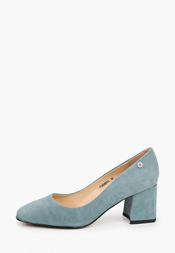 женские туфли с закрытым носом tuffoni, голубые