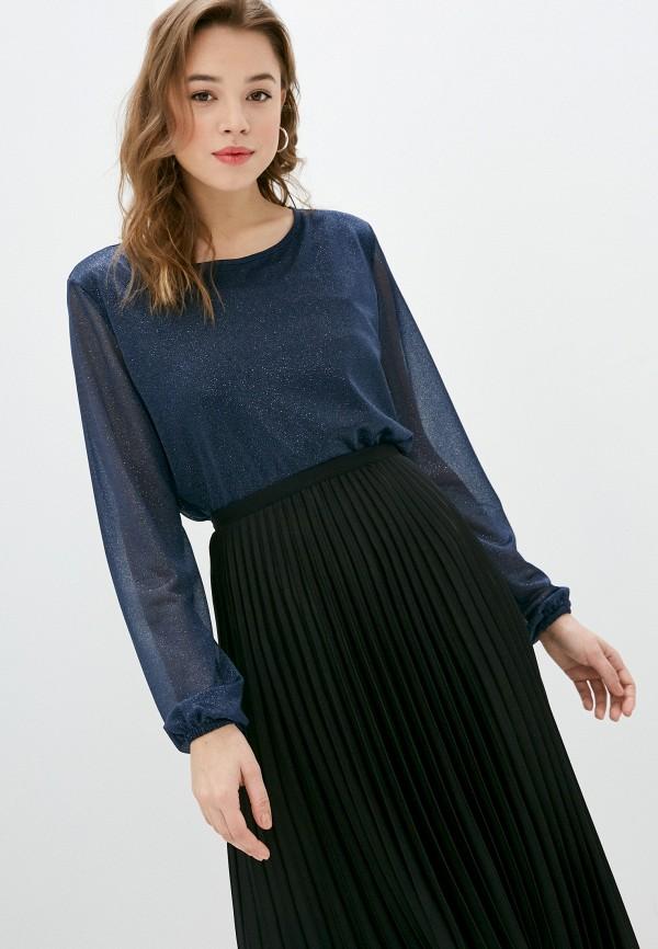 женская блузка с длинным рукавом viserdi, синяя