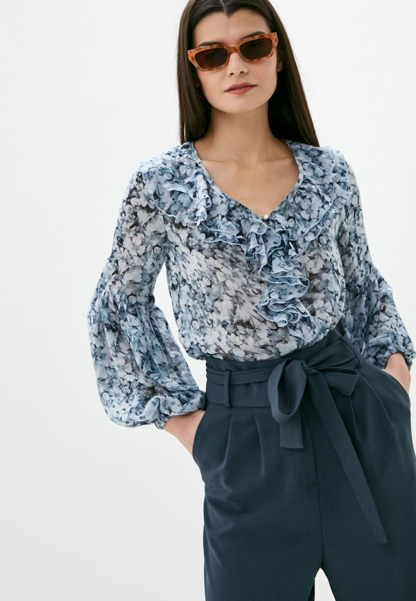 женская блузка с длинным рукавом viserdi, серая