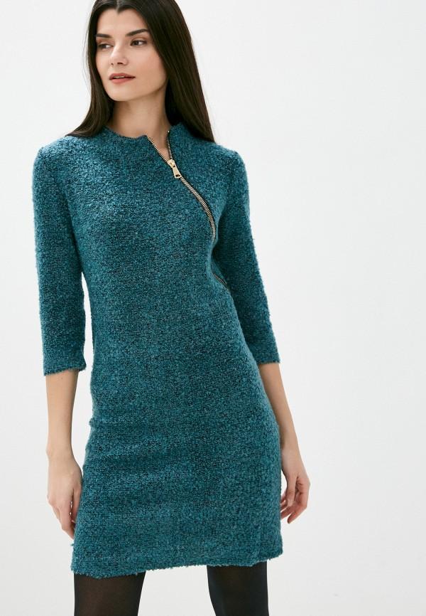 женское платье-свитеры viserdi, бирюзовое