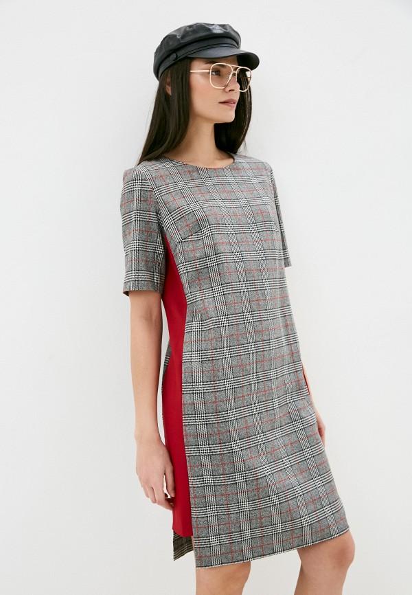 женское платье-футляр viserdi, серое