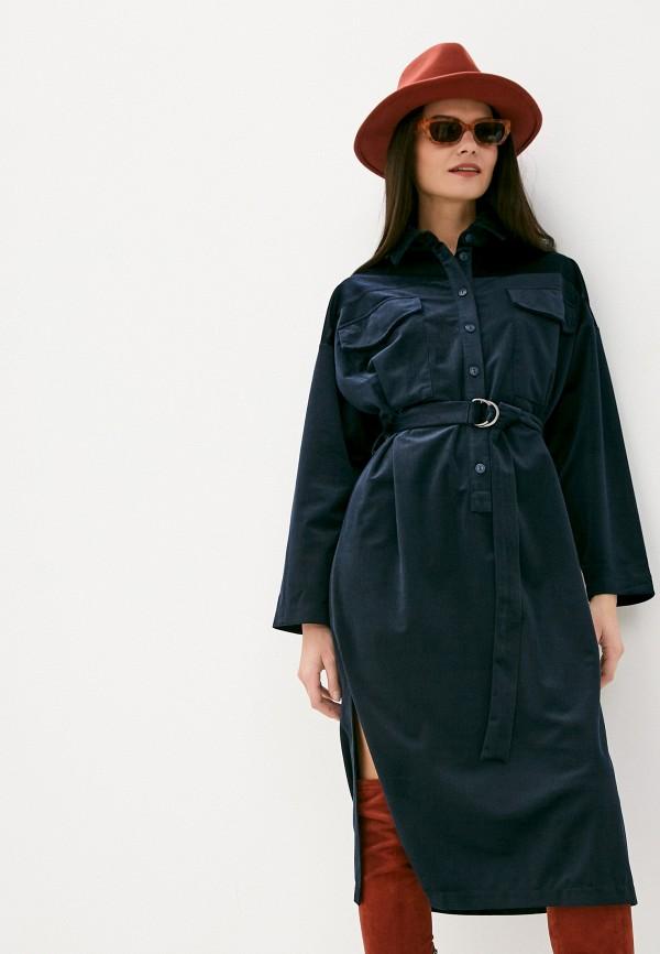 женское платье-рубашки viserdi, синее