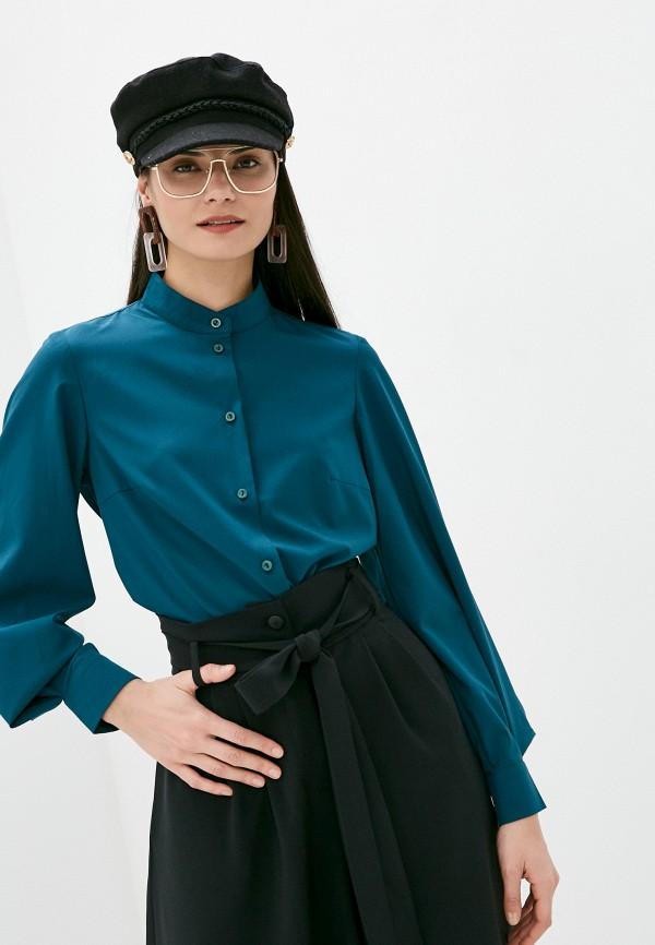 женская блузка с длинным рукавом viserdi, бирюзовая