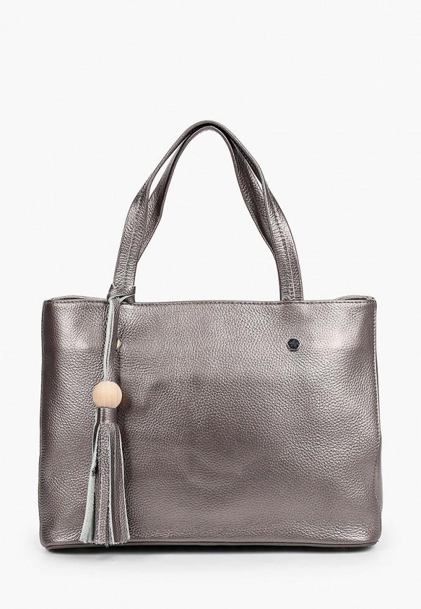 женская сумка с ручками mironpan, серебряная