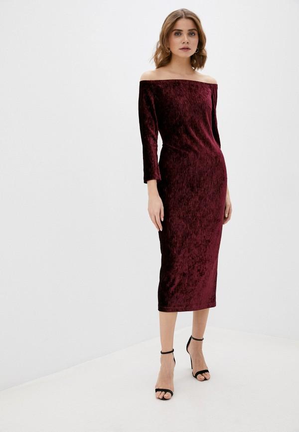 женское платье ruxara, бордовое