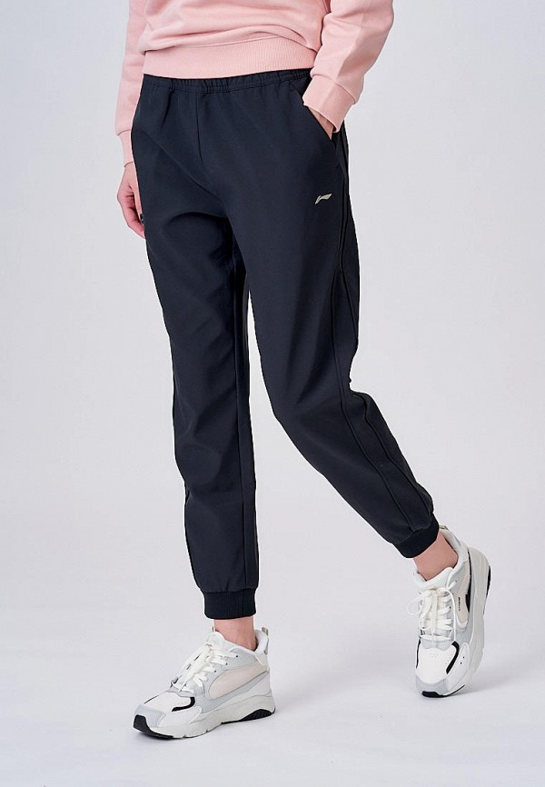 женские спортивные брюки li-ning, черные