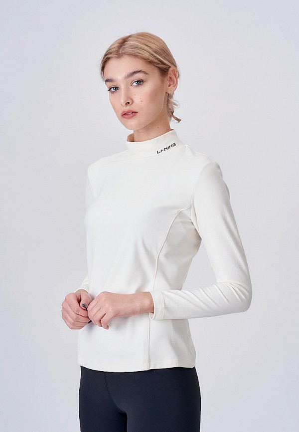 женский лонгслив li-ning, белый