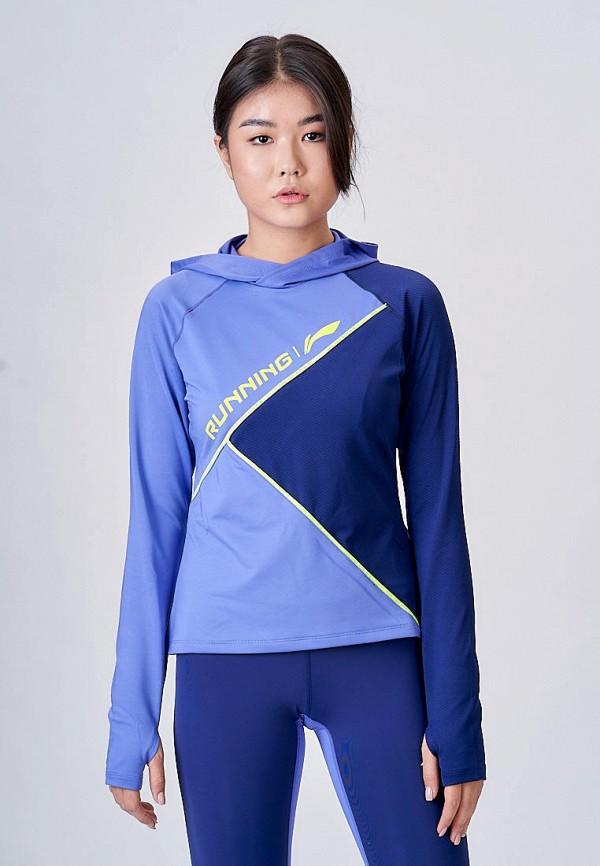 женские худи li-ning, синие