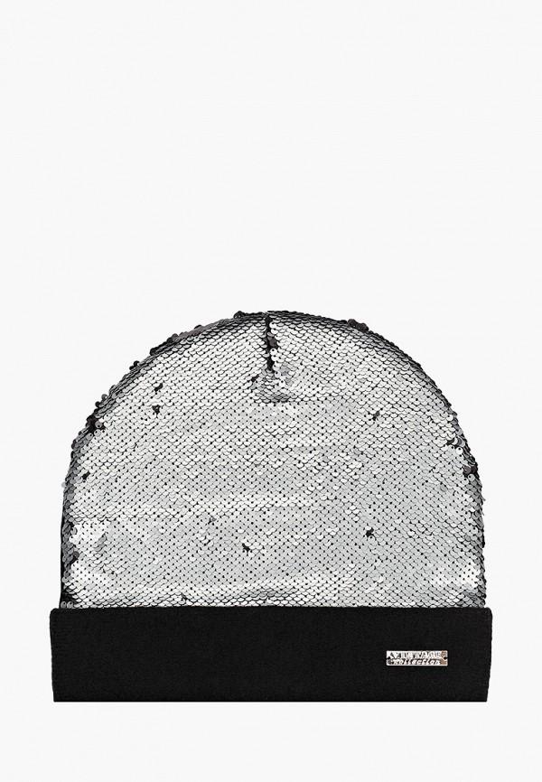 женская шапка vntg vintage+, серебряная
