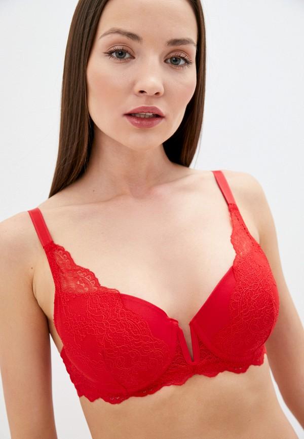 женский бюстгальтер без косточек mark formelle, красный