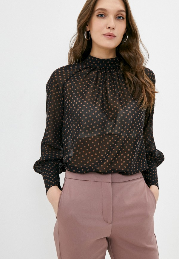 женская блузка с длинным рукавом alina assi, черная