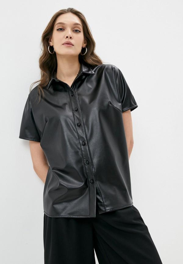 женская рубашка с коротким рукавом alina assi, черная