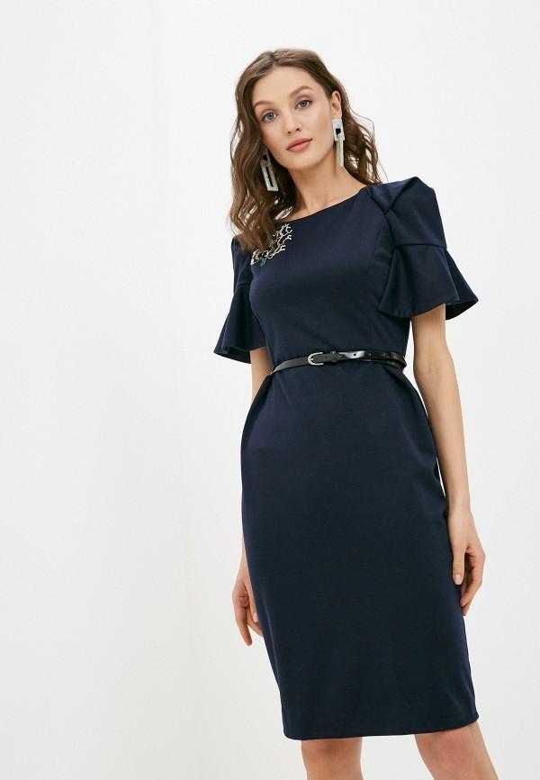 женское платье-футляр alina assi, синее