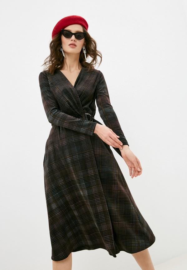 женское платье с запахом alina assi, коричневое