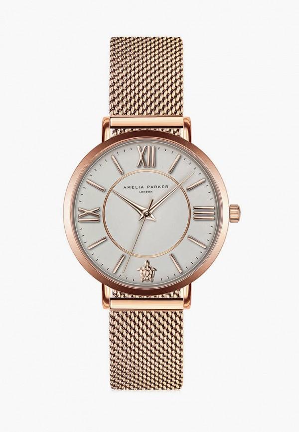 женские часы amelia parker, золотые